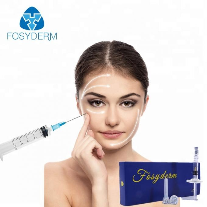 Safety Hyaluronic Acid Dermal Filler Injections 2ml For Cheek Lifting / Plumping