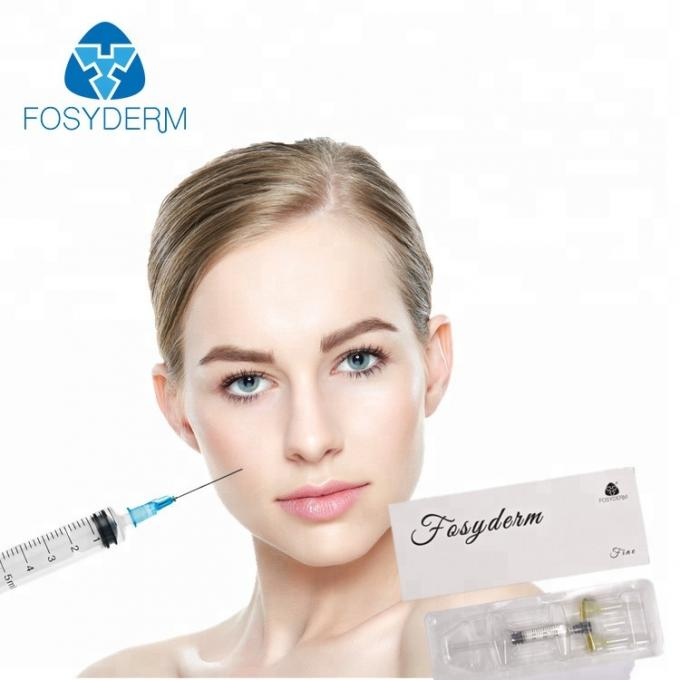 HA Injectable 1ml Cross Linked Dermal Filler For Nose / Lip / Chin / Cheek