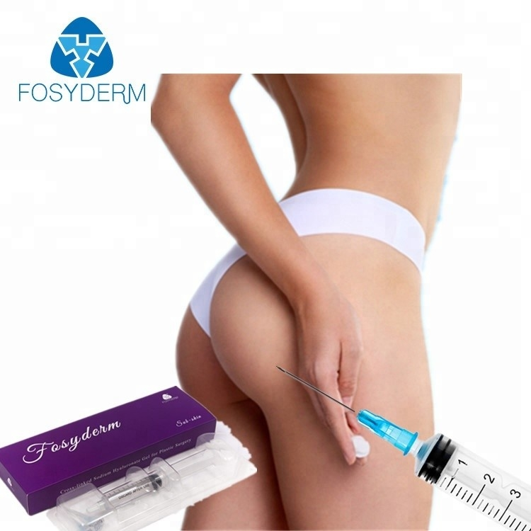 China Cross Linked 20ml HA Dermal Fillers For Buttocks Enhancement Natrual Looking factory