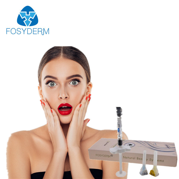 Cross Linked Fosyderm Injectable Dermal Filler Hyaluronic Acid Dermal Filler 2ml For Face